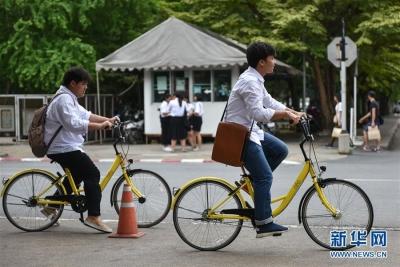 中国共享单车走出国门 进入泰国大学校园