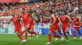 塞尔维亚1:2遭瑞士绝杀!本届世界杯首次出现逆转取胜